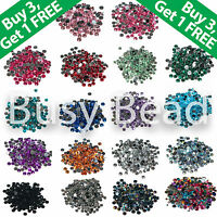 Flat Back Rhinestones 1000 x Acrylic Crystal Diamante Gems 2, 3, 4, 5, 6mm