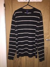 "Gap Grey Stripe Lambswool Long Top Jumper Size M AtoA21"" L28"" BNWT *C1"