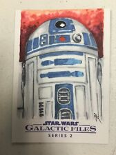 STAR WARS GALACTIC FILES SERIES 2 SKETCH CARD BY IAN YOSHIO ROBERTS