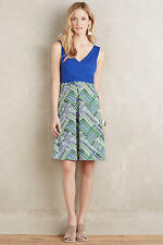 NEW ANTHROPOLOGIE Ardmore Dress 0 XS Extra Small by Maeve Blue Motif