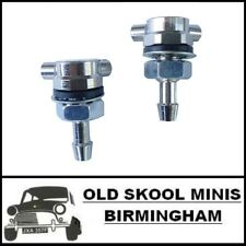 CLASSIC MINI CHROME WASHER JETS x2 TWIN PAIR AUSTIN ROVER COOPER 998 1275 5L2