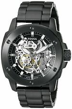 Fossil Men's ME3080 Modern Machine Automatic Skeleton Dial Black Steel Watch