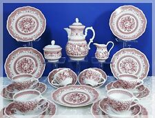 Hutschenreuther Maria Theresia Windsor rot KAFFEESERVICE 6 Pers. Top Zustand