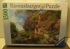 2013 Ravensburger 1500 Jigsaw Puzzle COUNTRY COTTAGE New! In Shrink Wrap!!!!