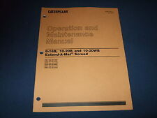 CAT CATERPILLAR 8-16B 10-20B 10-20WB SCREED OPERATION & MAINTENANCE MANUAL