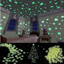 100pcs Star Stickers Home Wall Glow In Dark Decal Baby Kids Nursery Room Gift Y7