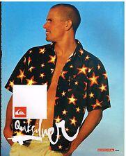 Publicité Advertising 2003 Quiksilver chemise Homme avec Kelly Slater
