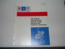 1984 -1989 GM AC DELCO DISTRIBUTORLESS IGNITION SYSTEMS DIAGNOSTICS  MANUAL