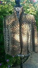 Rare Vintage Real Fur Cape Coat Jacket Wrap Genuine Leopard Spotted Geoffrey cat