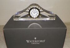 "WATERFORD IRELAND CRYSTAL ASHTON MANTEL CLOCK PAPERWEIGHT 6 1/2"" BOX EUC"
