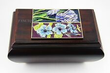 JAY STRONGWATER AMAZING IRIS TILE DESIGN ON WOOD BOX SWAROVSKI NEW MADE IN USA