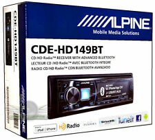 Alpine CDE-HD149BT CD/FM/MP3/USB/HD RADIO/Bluetooth  NEW CAR Stereo CDEHD149BT