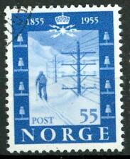 NORWAY - NORVEGIA - 1955 - Centenario dell'inaugurazione della prima linea tel.