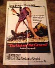 THE GIRL AND THE GENERAL Virna Lisi  ORIGINAL 1967 ONE SHEET MOVIE POSTER