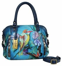 Anuschka Hawaiian Twilight Zip Top Medium Satchel, Genuine Leather 526-HWT