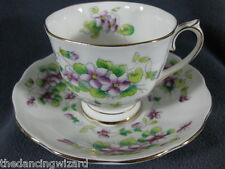 Royal Albert Sweet Violet Bone China Footed Tea Cup & Saucer Set England