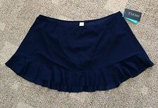 Profile by Gottex Womens Plus Size 24W Navy Blue Skirted Swimsuit Bottoms Only