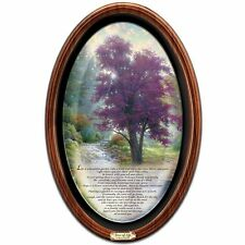 THOMAS KINKADE TREE OF LIFE MASTERPIECE CANVAS FRAMED COLLECTOR'S PLATE