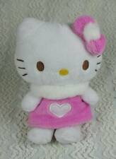 "Sanrio Hello Kitty Pink Heart Dress Angel Plush Doll w Wings 2011 6"" RARE"
