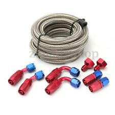 Aluminum Fuel/Gas Tank/Cell AN10-AN6 Fitting Braided Steel Feed/Return Line Kit