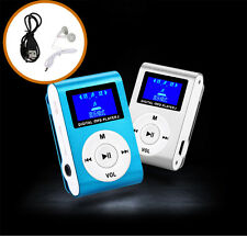 Mini USB Clip MP3 Player LCD Screen Support USB SD Karte+Earphone+Data Cable