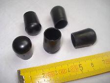8 patins embouts PVC noir pour tube  diamètre 12 mm  fauteuil, siège