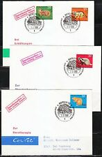Germany BRD 1968 FDC covers Sc B430-433 Mi 549-552 Animals