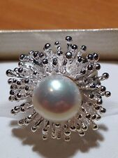 Stones & Silver Sterling Silver Spiral Pearl Ring Brand New Size 7