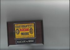 ROCKY MARCIANO vs ARCHIE MOORE POSTER BOXING PHOTO PLAQUE