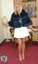 PELLICCIA MARMOTTA MANTELLA MARMOT PELZ  CAPE FUR NO FOX FOURRURE NO MINK