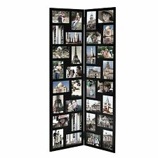 adeco 32 opening 4x6 black wood floor standing folding photo picture frames