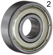 Two (2) 608ZZ 8x22x7 Shielded Greased Miniature Ball Bearings