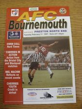 11/02/1997 Bournemouth v Preston North End  (creased). Trusted sellers on ebay b