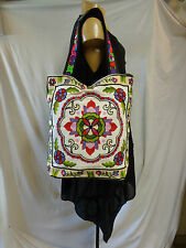 SAC ETHNIQUE H' MONG , BRODE , NEUF /  EMBROIDERED H' MONG BAG
