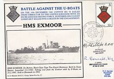 5RNCC37b HMS Exmoor Battle against the U-boats  signed 2 involved on HMS Exmoor