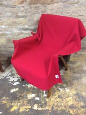 BUTE CLYDE FABRIC PURE WOOL WOVEN UPHOLSTERY FABRIC in SPECIAL RED 92cmx130cm