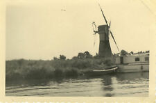 PHOTO ANCIENNE - VINTAGE SNAPSHOT - MOULIN À VENT BATEAU - WINDMILL BOAT
