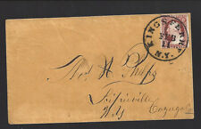 KINGS FERRY, NEW YORK COVER. VF+ Manilla envelope.  Cayuga 1807/.
