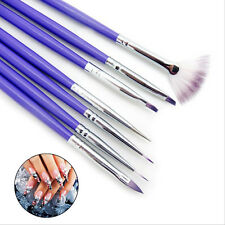 7tlg Nagel Pinsel Set Nail Art Stift Painting Brushes Dotting Pen Gelpinsel Neu