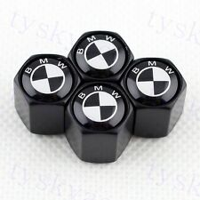 Black Wheels Tire Valve Stems Cap Cover Air Dust Hat For BMW Styling Decoration
