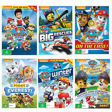 9Paw Patrol 6 Movies Collection DVD Nickelodeon Brave Heroes, Big Rescue, Winter