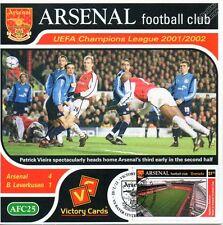 Arsenal 2001-02 Bayer Leverkusen (P. Vieira) Football Stamp Victory Card #125
