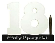 Splosh Personalise 18 Signature Numbers 18th Birthday Fun Keepsake Momento Gift