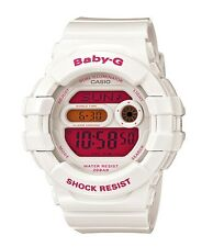 Casio Baby-G * BGD140-7B Dual Illum Gloss White w/Pink Women COD PayPal MOM17
