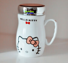 New Cute Hello Kitty Office Ceramic Cup Tea Milk Coffee Mug Pink Bow 450ML