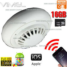 Home Security Camera WIFI IP Wireles Smoke Detector Room 1080P No Spy Hidden