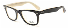 NEW AUTHENTIC RAY- BAN MEN'S FRAME RB5121F 2464 WAYFARER BLACK/IVORY 50-22
