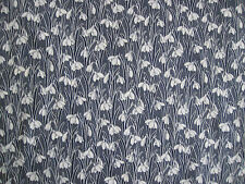 "LIBERTY OF LONDON TANA LAWN FABRIC DESIGN ""Hesketh "" 2.3 METRES  NAVY SNOWDROP"