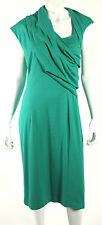 OSCAR DE LA RENTA $1,390 NWT F13 Sea Green Draped Sheath Dress 12