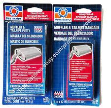 Permatex Muffler Tailpipe Putty Silencer 80333 Bandage 80331 Exhaust repair kit